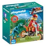 Playmobil Motocrosscykel med Raptor