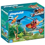 Playmobil Helikopter med Flygosaurus