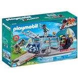 Playmobil Propellerbåt med Dinosauriebur