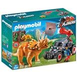 Playmobil Jeep med Dinosaurusnät