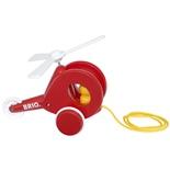 BRIO Dragleksak Helikopter Röd