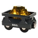 BRIO Guldletarvagn med Ljus