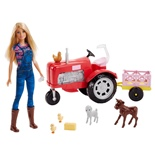Barbie Farmer & Tractor Set