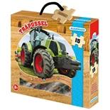 Kärnan Träpussel 15 Bitar Traktor