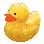 Crystal Puzzle 3D Pussel 43 Bitar Yellow Rubber Duck