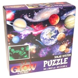 Glow in The Dark Pussel 100 Bitar Solar System