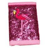 Rosa Glittrig Plånbok Flamingo