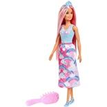 Barbie Dreamtopia Pink Hår med Borste