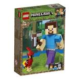 LEGO Minecraft BigFig Steve med Papegoja