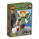 LEGO Minecraft BigFig Alex med Kyckling