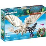 Playmobil DRAGONS Vitfasa med Drakunge och Barn