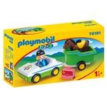 Playmobil 1-2-3 Bil med Hästtransport