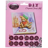 Craft Buddy DIY Crystal Card Kit Teddy Bear