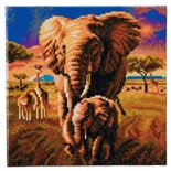 Craft Buddy DIY Crystal Art Kit Elephant of The Savannah