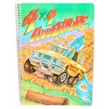4x4 Adventure Linjerad Skrivbok A5