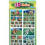 Stickers 3D Vilda Kattdjur 40-Pack