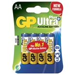 GP Ultra Plus Alkaline AA Batterier 4-Pack
