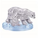 Crystal Puzzle 3D Pussel 40 Bitar Polar Bear Family