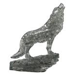 Crystal Puzzle 3D Pussel 37 Bitar Wolf Svart