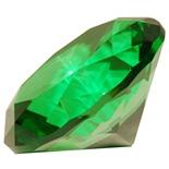 Diamant i Glas Grön 8 cm