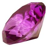 Diamant i Glas Lila 8 cm