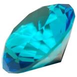 Diamant i Glas Blå 8 cm