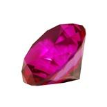 Diamant i Glas Cerise 5 cm