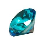 Diamant i Glas Blå 5 cm