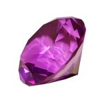 Diamant i Glas Lila 5 cm
