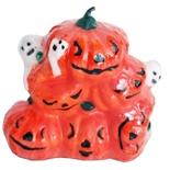 Halloween Pumpor med Spöken Ljus 7 cm