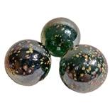 Glaskulor 3-Pack Metallic med Strössel 33 mm