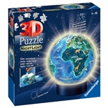 Ravensburger 3D Pussel 74 Bitar NightLight Earth by Night