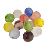 Glaskulor 22 mm Frost Rainbow 12-Pack