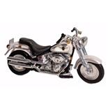Maisto Harley Davidson 2000 FLSTF Fat Boy Vit 1:18