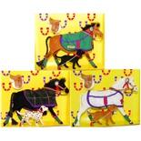 Pony World Travande Hästar med Hundar 3-Pack