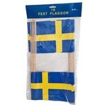 Pappersflaggor Sverige 10-Pack