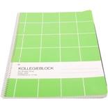 Kollegieblock Grön Rutat 10-pack