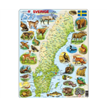 Larsen Pussel 71 Bitar Karta Sverige