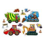 Orchard Toys Pussel 4 och 8 Bitar Big Wheels