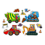 Orchard Toys Pussel 4 och 8 Bitar Big Wheels