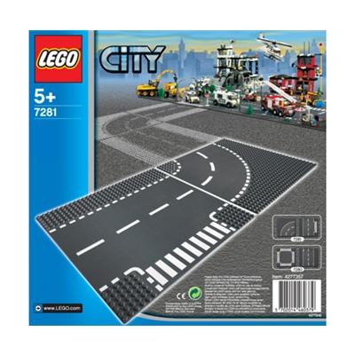 LEGO City T-Korsningar och Kurvor, 7281L