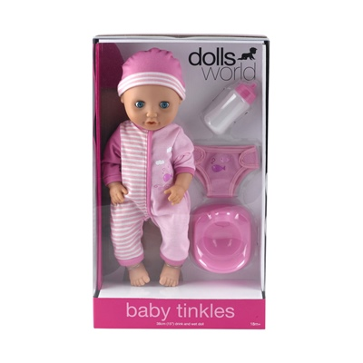 Dolls World Docka Baby Tinkle Rosa 38 cm, 8120A