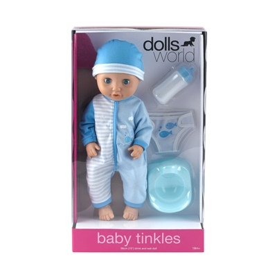 Dolls World Docka Baby Tinkle Blå 38 cm, 8122A