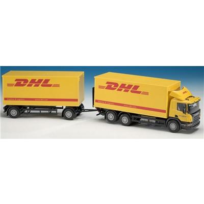 Emek Scania Distributionsbil med Släp DHL 1:25, 89549