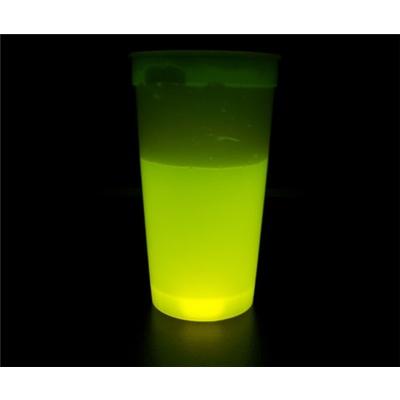 Lysande Plastglas Crazy Glow Gul, 9-60318