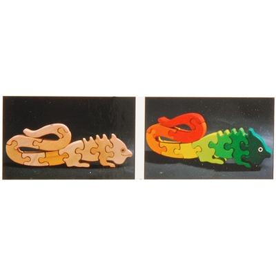 WoodiToys Träpussel 9 Bitar Dinosaurie, WP-101