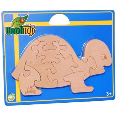 WoodiToys Träpussel 9 Bitar Sköldpadda, WP-109