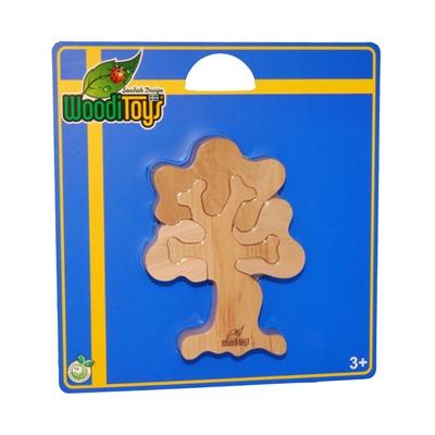WoodiToys Träpussel 4 Bitar Träd, WP-114