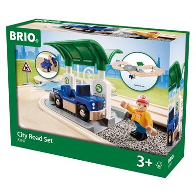 BRIO City Vägset med Bensinstation, 33747