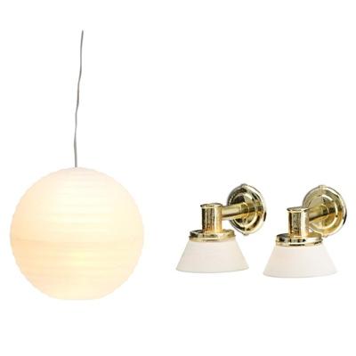 Lundby Rislampa + Vägglampor, 60.6044